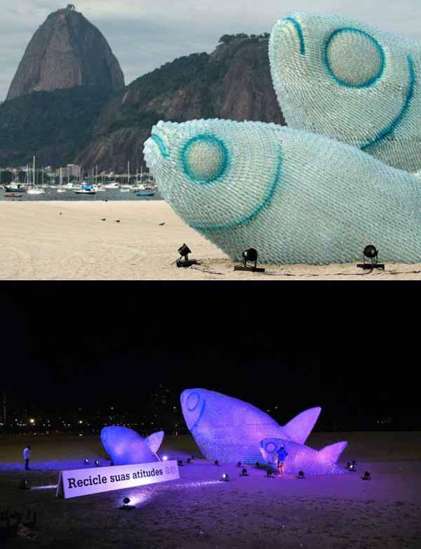 Vik Muniz, Poissons sur la plage de Rio