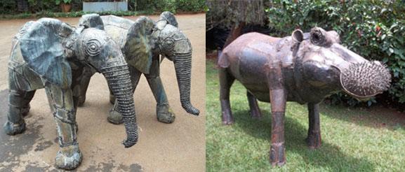 Sculptures de Kioko Mwitiki