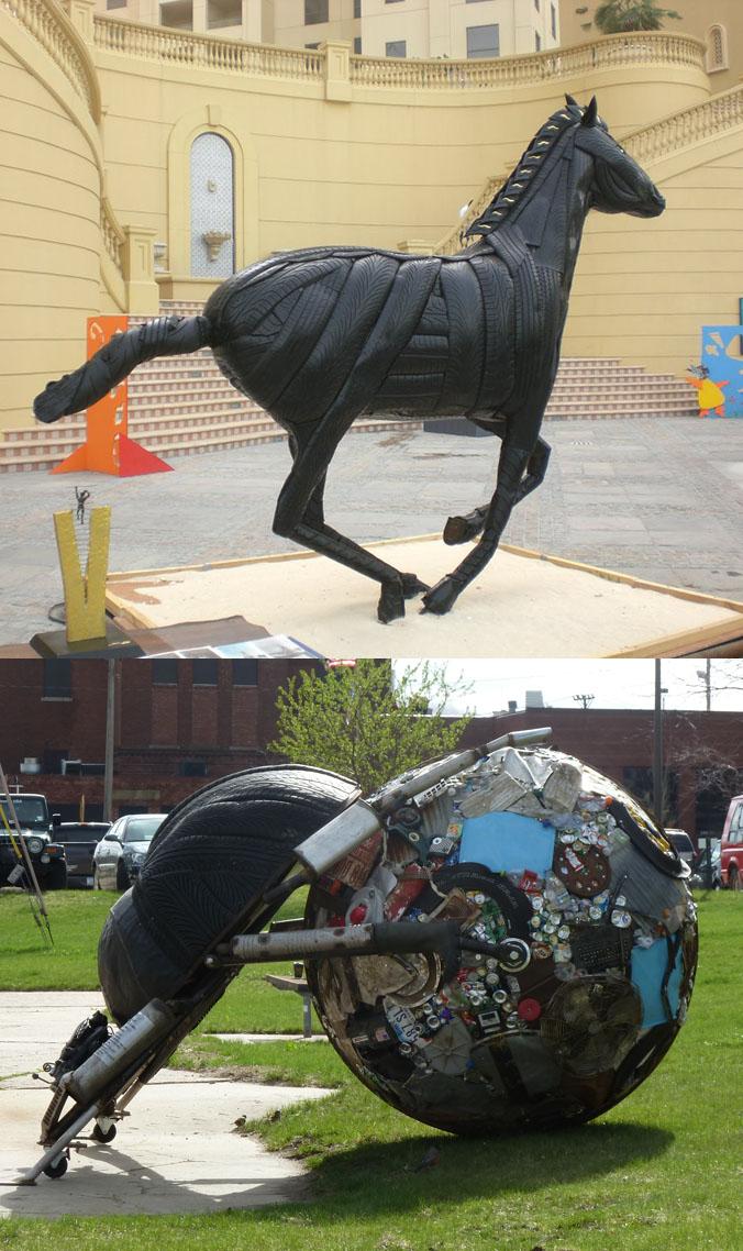 Mirko Siakkou-Flodin - Sculptures en métal et gomme de pneu