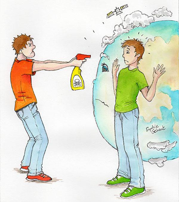 Produits toxiques et tueurs, Illustration de Sophie Génart © 2015