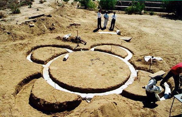 Les fondations de l'eco-dôme