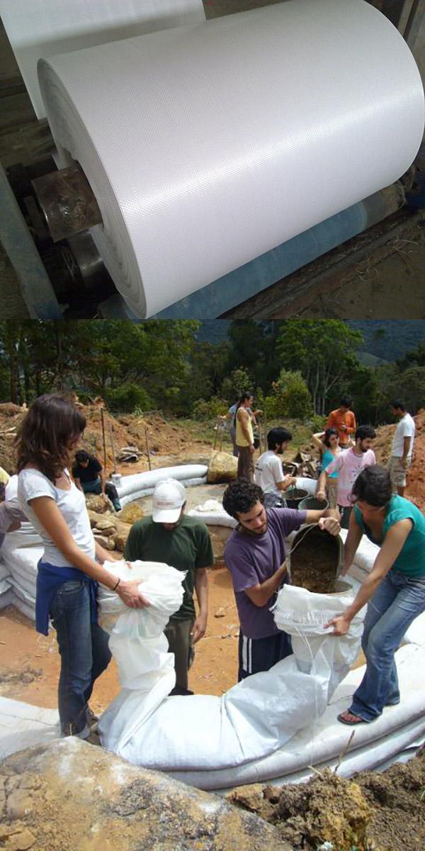 Remplissage Des Sacs : Une maison en sacs de terre terra sophia la sagesse