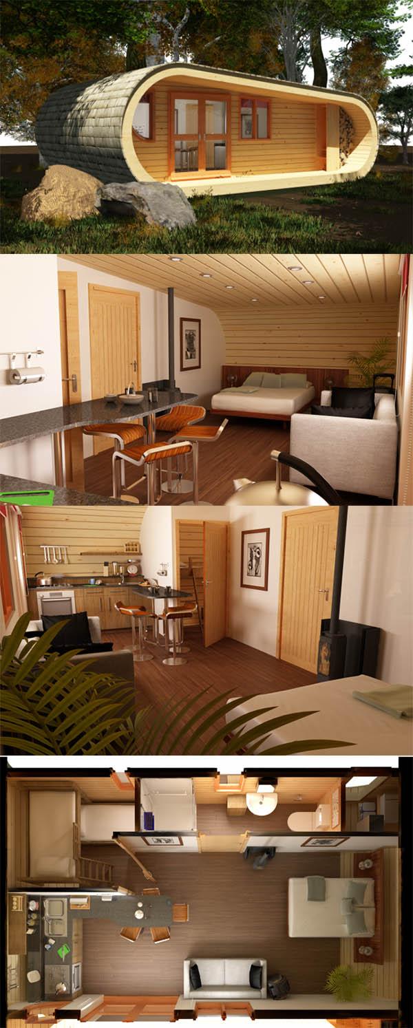 Terra Sophia / Tinny house / Maison minuscule / maison à petit budget