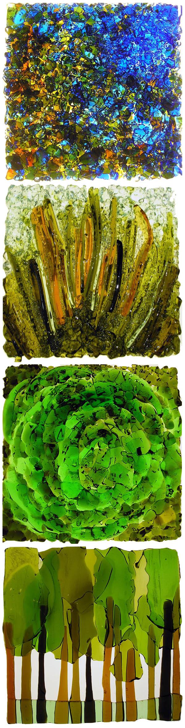 Terra Sophia - Art du verre recyclé - Vitraux de Nikki Root